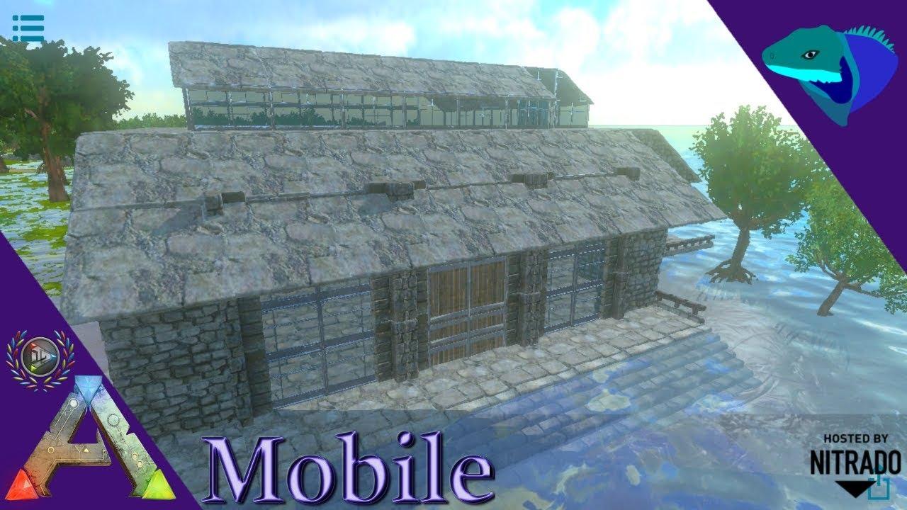 Battlements Balcony Stairs Swamp Castle Build Part 3 Ark Mobile S2 E40 Youtube