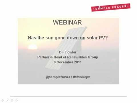Has The Sun Gone Down On Solar PV?