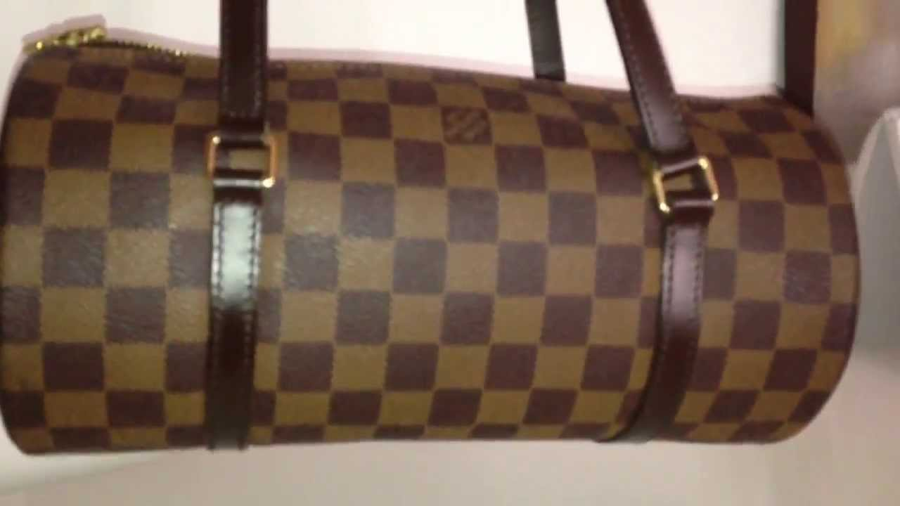 cd7333e8211d Louis Vuitton Papillon 26 damier ebene - YouTube