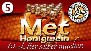 Met / Honigwein selber machen - Der 10 Liter Ansatz - Teil 5 - Abstich und Filtern