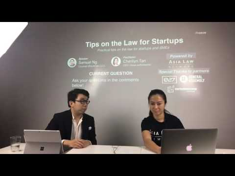 Tips on the Law for Startups (Samuel Ng from BlackOak LLC, Facebook Live Q&A Season 1 Episode 1)
