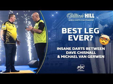 THE BEST LEG OF DARTS EVER? Chisnall v Van Gerwen   2020/21 World Darts Championship