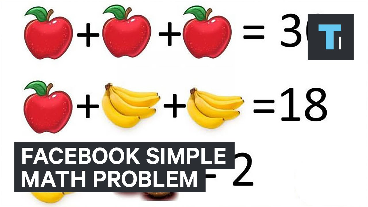 Facebook simple math problem - YouTube
