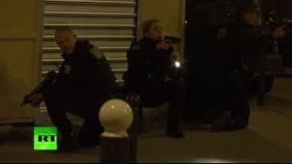 Panic after false alarm at Paris attacks memorial - immediate aftermath