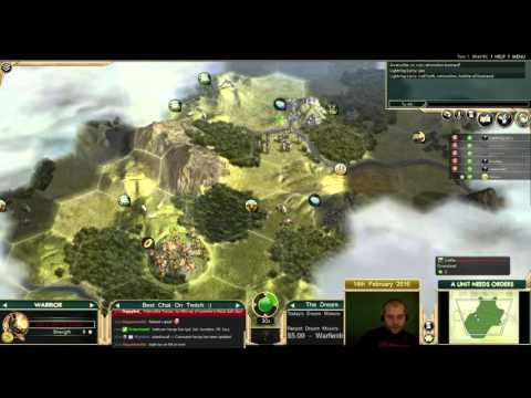 Civilization 5 Multiplayer 151: Inca [1/3] ( BNW 6 Player Free For All) Gameplay/Commentary