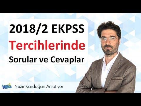 2018/2 EKPSS tercihlerinde sorular ve cevaplar