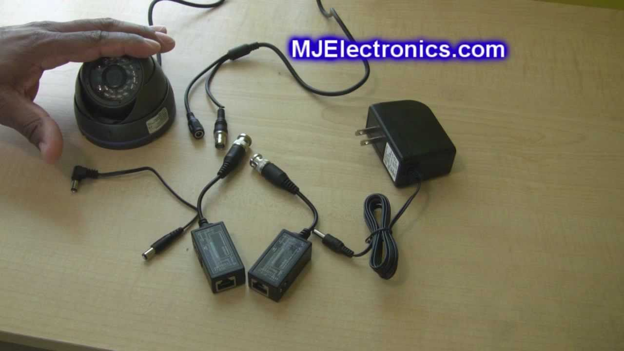 How To Connect Cat5 Cable Cctv Security Camera Using A Balun Poe Ethernet Wiring Com Power Over Four Port Youtube