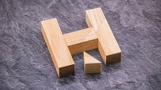 The Ingenious Half H Puzzle - Always one piece too much!