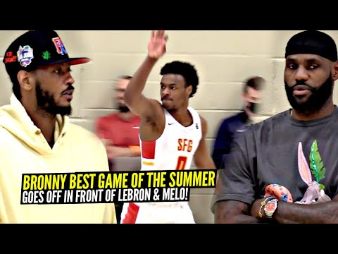 Download Bronny James BEST GAME OF 2021 In Front of LeBron & Carmelo Anthony!!