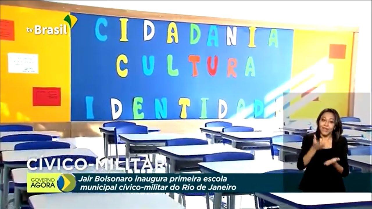 Presidente Bolsonaro inaugura escola cívico-militar no RJ