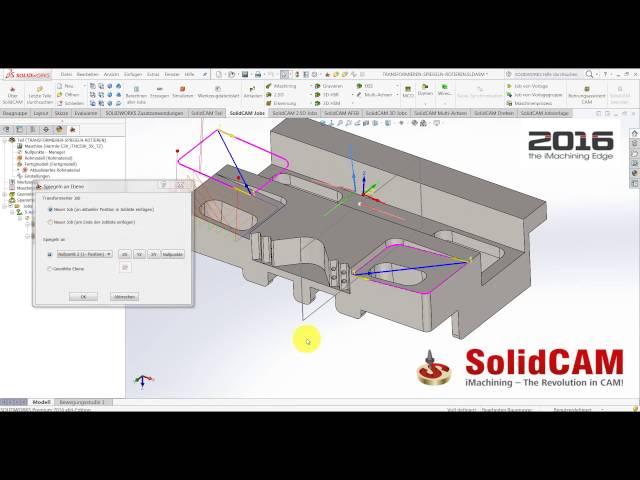 SolidCAM 2016 - Spiegeln um ein Koordinatensystem und Ebene