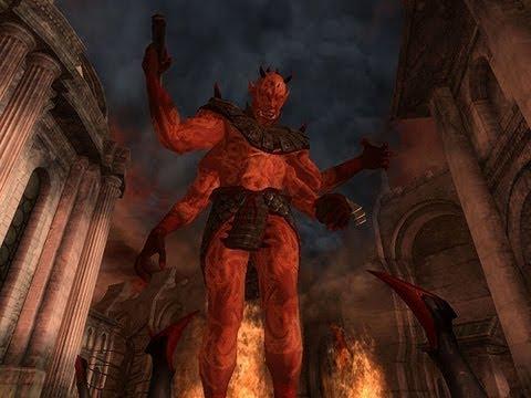 Oblivion - KILLING Mehrunes Dagon - YouTube