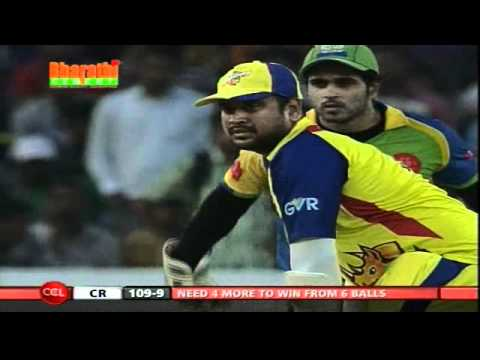 CCL 2 Chennai Rhinos Vs Kerala Strikers Inngs2 Over 20