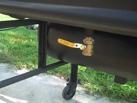 how to make a barrel smoker from a compressor tank