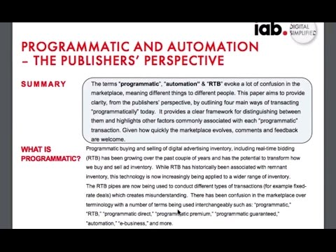 Understanding The Programmatic Ecosystem: for Media Buyers & Sellers