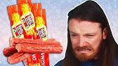 Irish People Try American Slim Jim Snacks