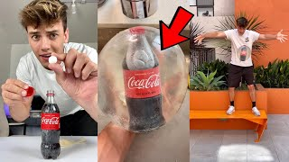 Coke & Mentos Bottle INSIDE Balloon!! *Experiment!* - #Shorts