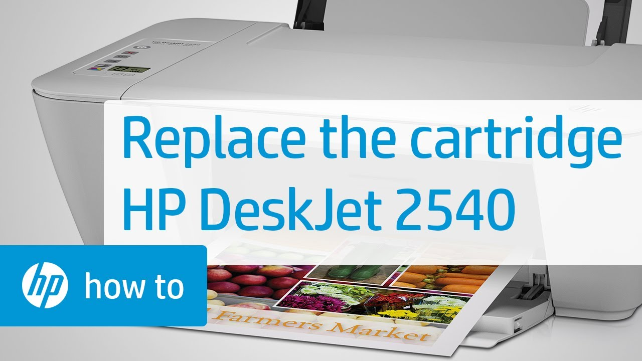Replacing a Cartridge - HP Deskjet 2540 All-in-One Printer | HP Deskjet | HP