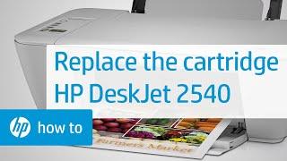 Replacing a Cartridge - HP Deskjet 2540 All-in-One Printer