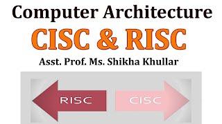 CISC & RISC by Ms. Shikha Khullar, Biyani Girls College, Jaipur, Rajasthan (2014)