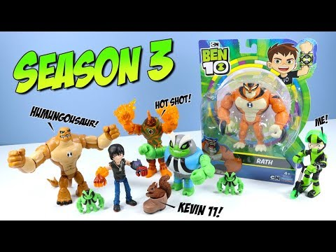 Ben 10 Reboot Action Figures Season 3 Kevin 11 Humungousaur Rath Playmates Toys