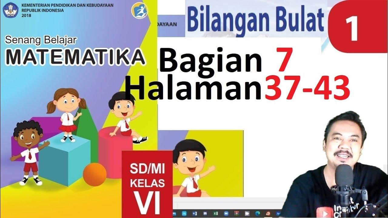 Matematika Kelas 6 Bab 1 Halaman 30 36 Bilangan Bulat Bse K13 Revisi 2018 Bagian 6 Youtube