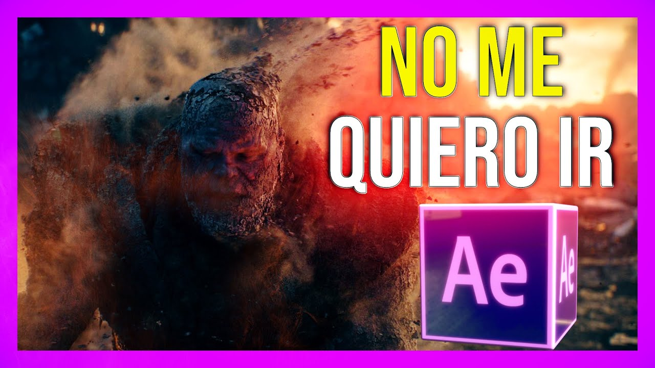 TUTORIAL After Effects | EFECTO Desintegracion Infinity War ☀ ✡