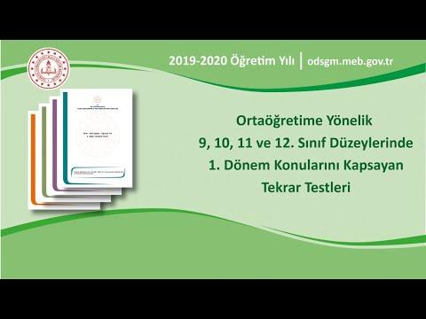 11. Sınıf Türk Dili ve Edebiyatı 1. Dönem MEB Tekrar Soruları