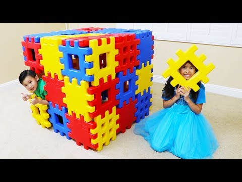 Wendy Pretend Play Building Toy Blocks Playhouse