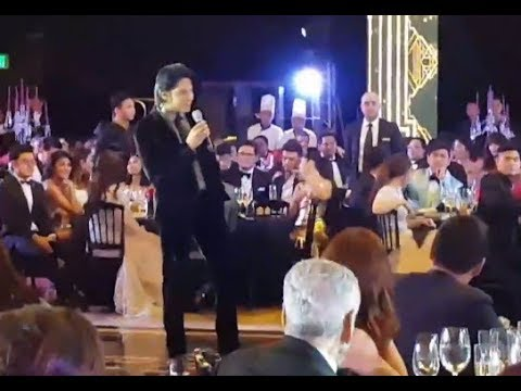 DANIEL PADILLA SERENADING THE CROWD AT ABS-CBN BALL 2018 #KathNielBrightest7thBall