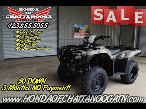 2016 Honda Trx500 Foreman Es Camo Atv Price Chattanooga Tn Ga Al