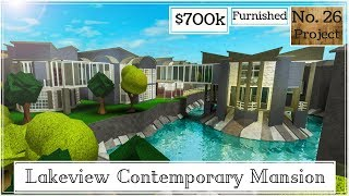 Roblox | BLOXBURG: Lakeview Contemporary Mansion (Speedbuild)
