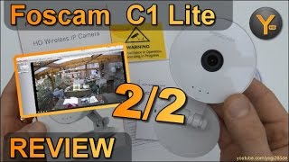 Installation & Funktionen: Foscam C1 Lite / HD Wireless IP Kamera / 720p WiFi Camera