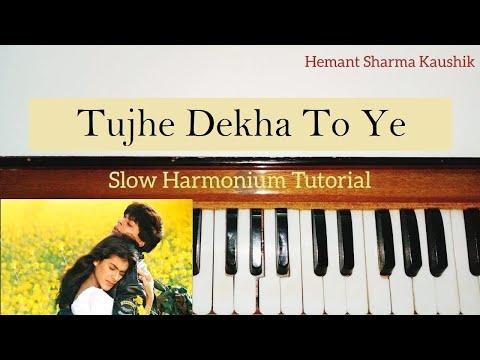 Tujhe Dekha To Ye Jana Sanam Harmonium (Notes Tutorial)