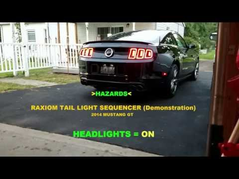 2014 Mustang GT - Raxiom Sequencer (Sequential Tail Light Mod)
