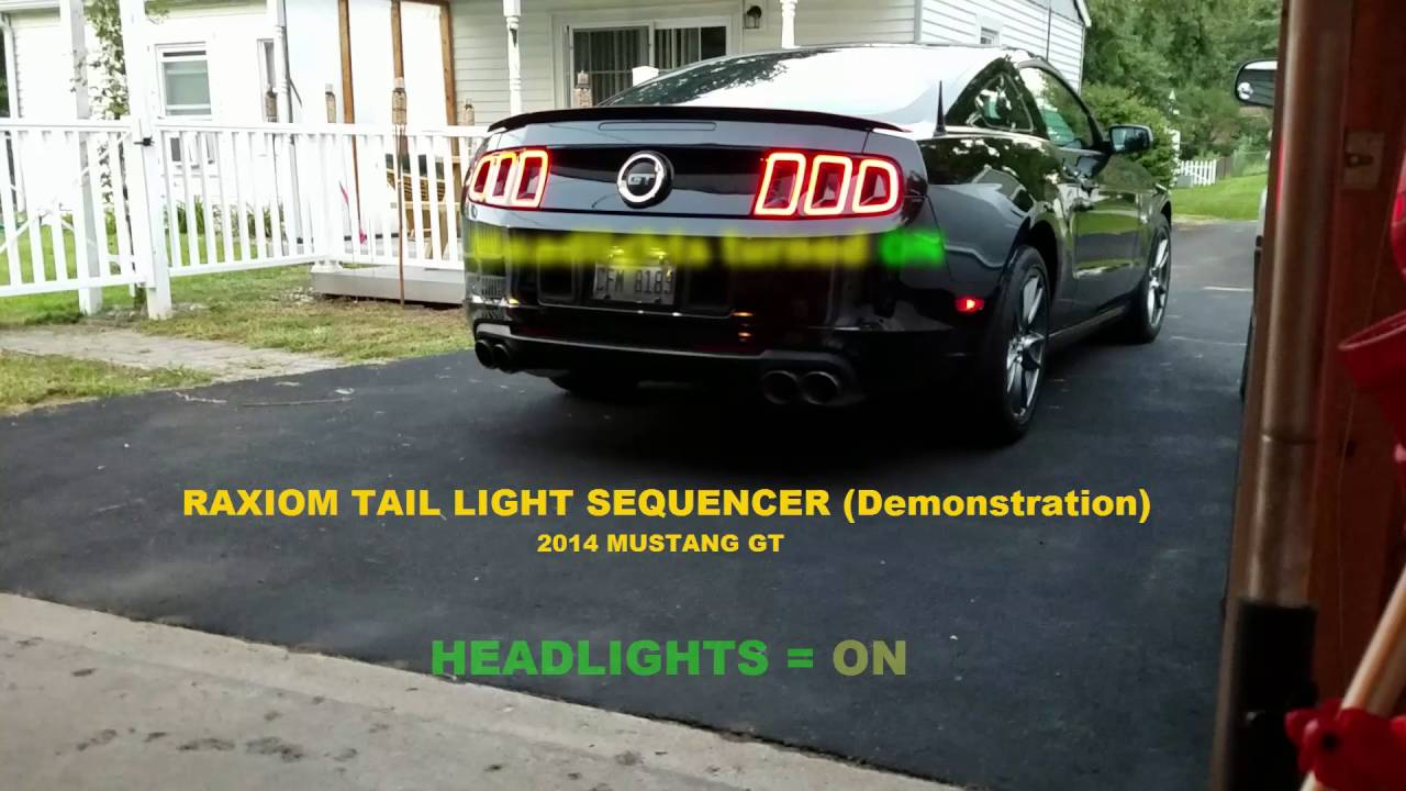 2014 Mustang Gt Raxiom Sequencer Sequential Tail Light