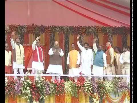 PM Modi & Shri Amit Shah at Swearing-in Ceremony of the new Govt of Uttar Pradesh : 19.03.2017