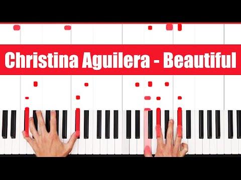 Beautiful Christina Aguilera Piano Tutorial - ORIGINAL