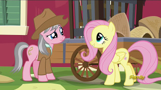 Fluttershy consults Wrangler - Fluttershy Leans In