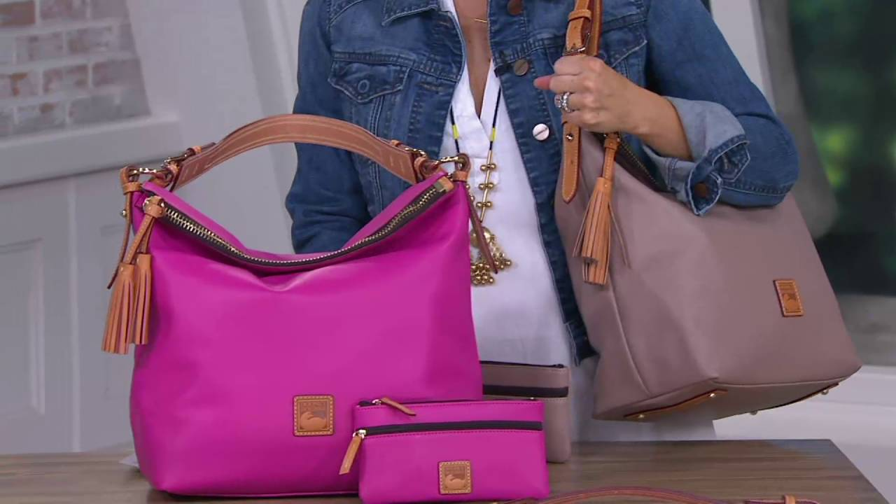 3100151dd3 Dooney   Bourke Smooth Leather Hobo with Accessories on QVC - YouTube