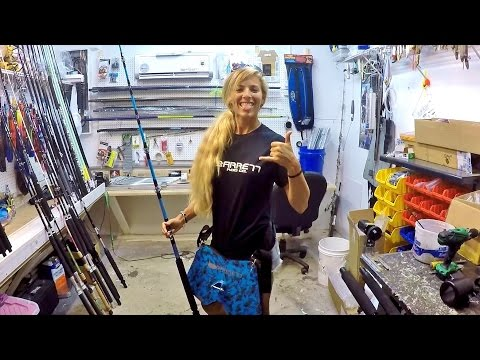 My New Custom Barrett Shark Rod & Rod Shop Visit