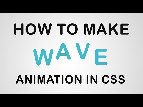 Make A Pure CSS Text Wave Animation
