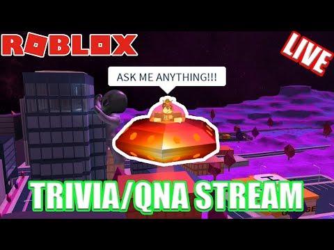 Roblox Jailbreak TRIVIA Live Stream!!! // QNA (ASK ME ANYTHING)!!!