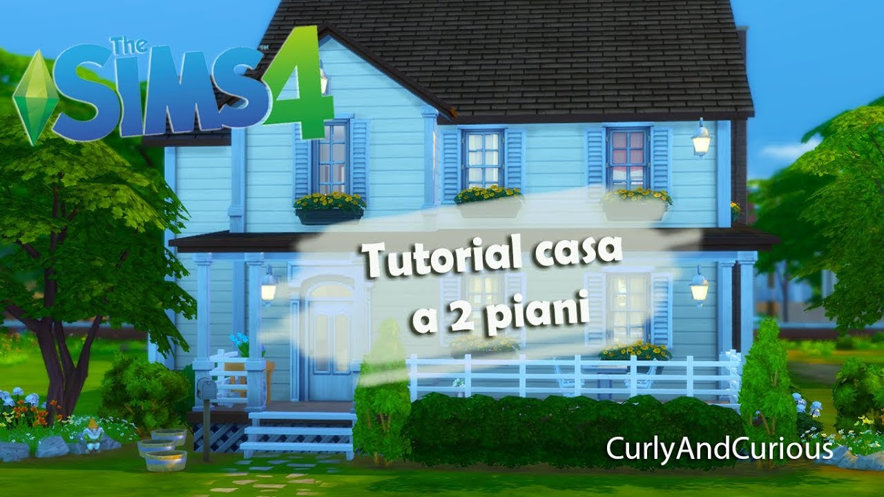 The sims 4 come costruire una casa a 2 piani youtube for Una storia moderna piani casa