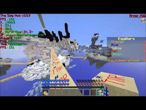 #199 Cubecraft Hacker Eggwars Fismisu1 [Anti knockback, Fly hacks, kill aura, Fast build] [BANNED]