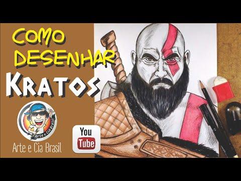 Como Desenhar O Kratos Novo God Of War Passo A Passo Youtube