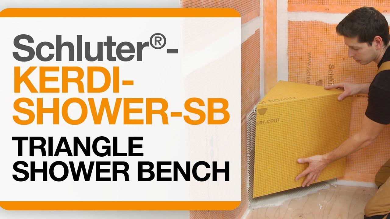 How To Install A Triangular Shower Bench Schluter 174 Kerdi