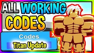 NEW *TITAN UPDATE* CODES In Anime Fighting Simulator Update! (Roblox)