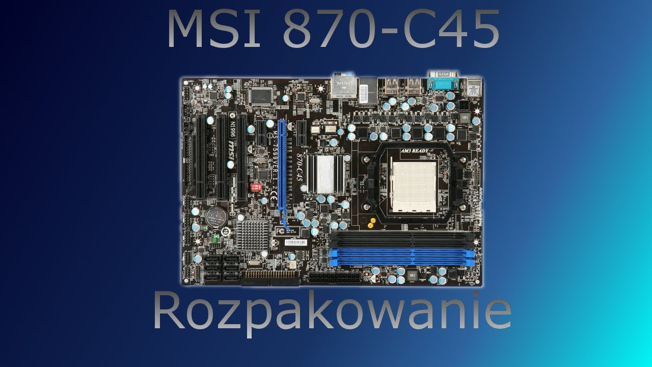 MSI 870-C45 AMD OverDrive Driver Download (2019)