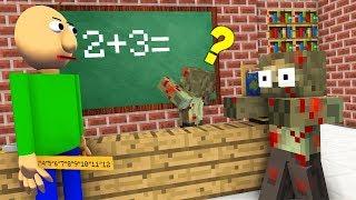 Monster School : BALDI ZOMBIE APOCALYPSE CHALLENGE - Minecraft Animation thumbnail